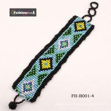 bracelets de perle noire FashionMe FH-B001