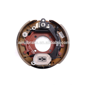 Complete 12-1/4''x3-3/8'' Electric Nev-R-Adjust brake assembly for trailer(with dust shield)