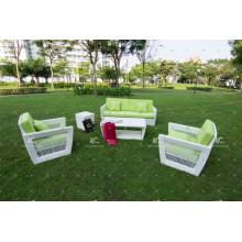 Wicker Patio Poly Rattan Couch Set Für Outdoor Garten