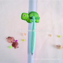 bon marché métal pvc tortue gonflable stylo à bille