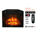 """23"""" flat panel infrared insert electric fireplace with curtain net"""