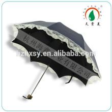 3 Falten Dome Form benutzerdefinierte Drucken Regenschirm für Mädchen