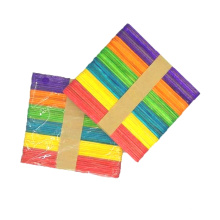 Wholesale 114mm*10mm*2mm High quality colorful  kids DIY school items handcraft ice cream stick for kids