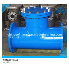 Dn350 Ductile Iron Tee Type Strainer with Epoxy Coating