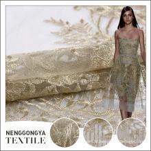 Nouvelle arrivée Frontières professionnelles de broderie de tissu indien chimique à la mode