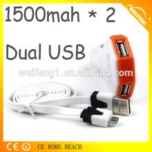 Chargeur de batterie Usb d'urgence pour chargeur de voiture pour téléphone portable
