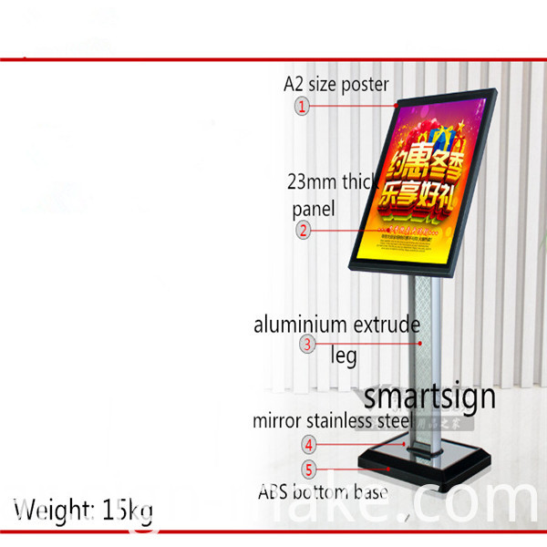 freestanding poster holder