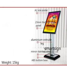 Porte-affiche sur pied acrylique A2
