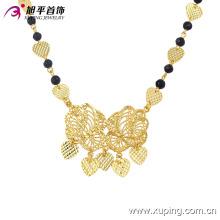 42756 Collar de joyería de mujer delicada chapado en oro de moda en aleación de cobre sin piedra