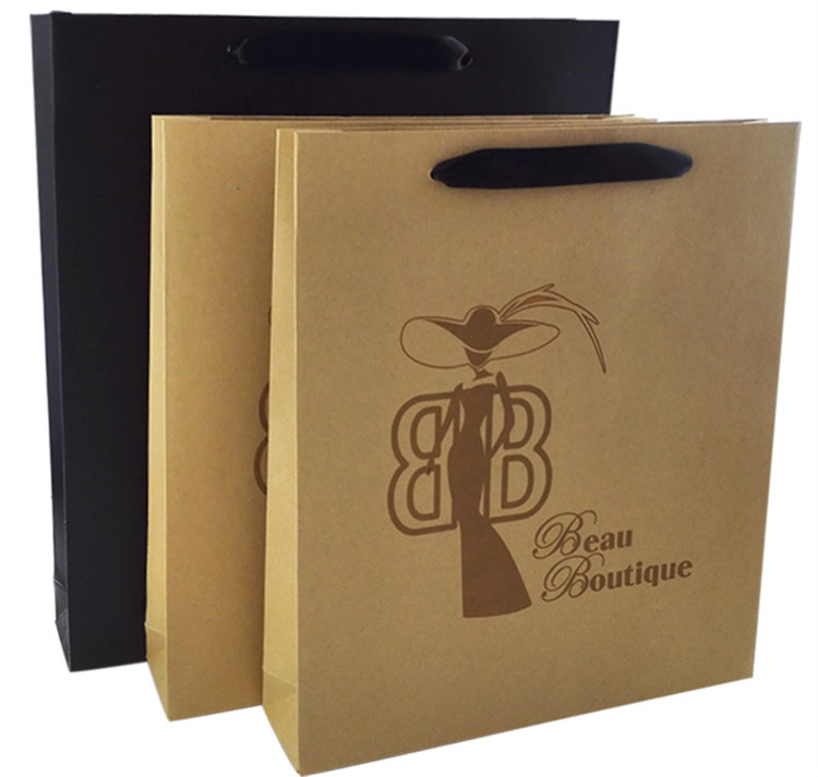 Wholesale Custom Stand Up Kraft Paper Bag with Handle