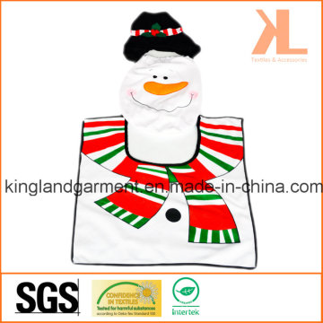 Quality Christmas Bathroom Decoration Snowman Toilet Seat Cover