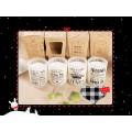 Vela de venda quente de soja pura para decoração de casa em frasco de vidro fosco