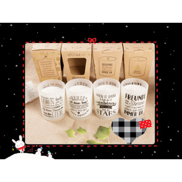 Pure Soy Hot Sale Candle for Home Decoration in Frosted Glass Jar
