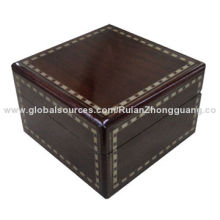 Glossy Lacquered MDF Wooden Packaging Display Storage Jewelry Watch Gift Box with Velvet Pillow