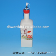Botella al por mayor del aceite de cerámica con diseño del mono en calidad superior