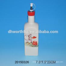 Bouteille en gros d'huile en céramique avec design de singe en qualité supérieure