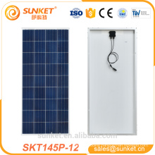 perfect solar panel materials for 145w poly solar panel used in 1kw solar panel system price