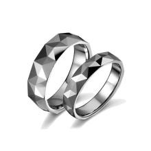 Melhor qualidade de jóias personalizado prata tungstênio casal anel de casamento