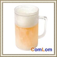 Caneca de cerveja gelada do gelo Caneca plástica congelada