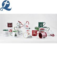 Caneca de café cerâmica da impressão colorida original feita sob encomenda do estilo popular da forma para o presente