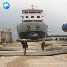 Corde d'amarrage avec airbags gonflables en caoutchouc pour le levage de navires