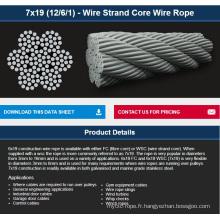 7X19 (12/6/1) - Câble métallique