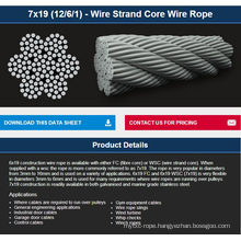 7X19 (12/6/1) - Wire Strand Core Wire Rope
