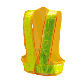 Strada LED Reflex PVC Warning Vest