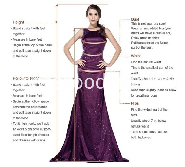 How To Measure White Strapless for Bride Wedding Dress