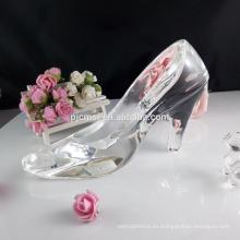 2017 nuevo producto de alta calidad bajo precio zapatos de cristal