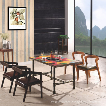 Wholesale Vintage Wood Coffee Shop Tables and Chairs (SP-CT681)