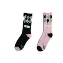 Frauen Mode Farbe Färben Socken mit Baumwolle (lf-1)