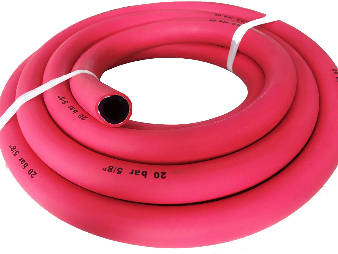 red color air hose