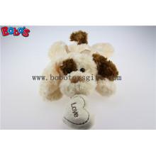 Cuddly Mentir Animal de pelúcia de pelúcia repleto com orelha de bronze e almofada de coração Bos1190