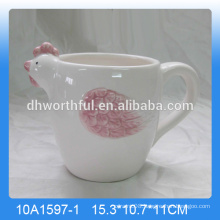 High quality handpainting ceramic rooster mug,rooster cup
