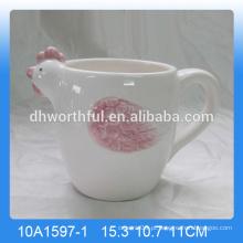 Alta qualidade handpainting caneca de galo cerâmica, copo de galo