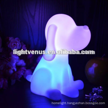 Dog Shaped LED light Rainbow Color Changing sleep Light