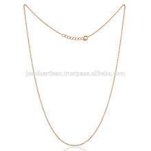 16-Zoll-Messing-Kette mit Gold getönten Überzug Dünne Größe alle Alters-Perseiten tragen