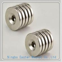 N38 Niquelado de imanes de neodimio disco permanente