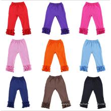Vente chaude Enfants Ruffle Bottom Pantalon Outfit Mignon Nouveau-Né Vêtements Filles Triple Ruffle Pantalon En Gros