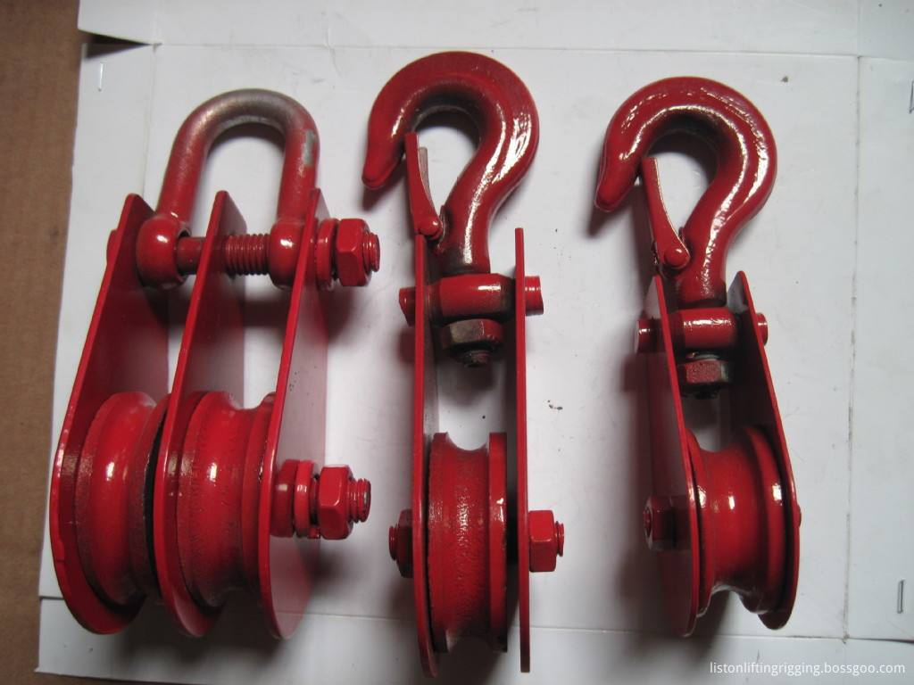 double sheave pulley block