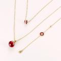 S-291 Xuping mode indien bijoux en or simple perle design bracelet + collier deux pièces bijoux plaqué or ensemble pour les femmes