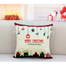 Merry Christmas handmade embroidered cushion covers low moq in art cushion covers
