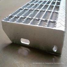 Barras soldadas de la escalera de la reja de la barra