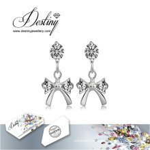 Destino joyas cristales de Swarovski pendientes pendientes de la mariposa