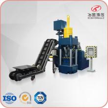 Machine de fabrication de briquettes de copeaux de métal automatique verticale