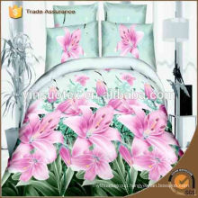 sumptuous 3D printed flower printed bedding set
