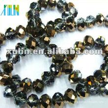 Nouvelles couleurs plaquées cristal verre à facettes perles bijoux diy 5040 #