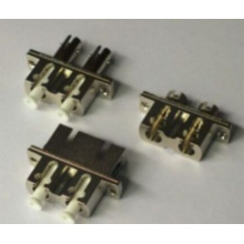 LC-FC / St / Sc Adaptador de fibra óptica Hybrit de metal dúplex
