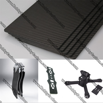 Πλήρες 3K Twill Matte Carbon Fiber Sheet 5.0mm